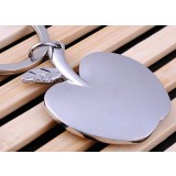 Zinc Alloy Apple Keychain