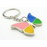 Zinc alloy butterfly keychain