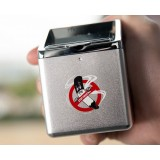 Zinc alloy dual purpose automotive ashtray + lighter